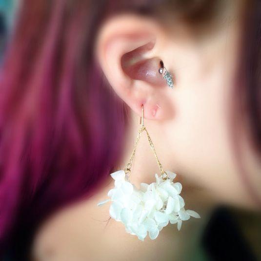 白花アジサイピアス