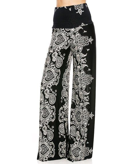 Zoozie LA Women's Palazzo Pants High Waisted Foldover at Amazon Women's Clothing store: