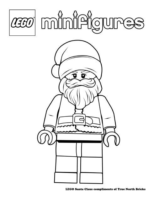 Coloring Page Santa Claus True North Bricks Lego Coloring Santa Coloring Pages Coloring Pages