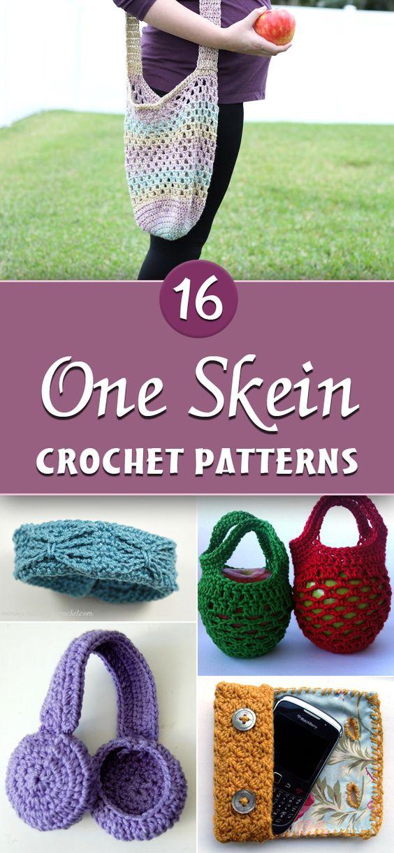 16 Free, One Skein Crochet Patterns: