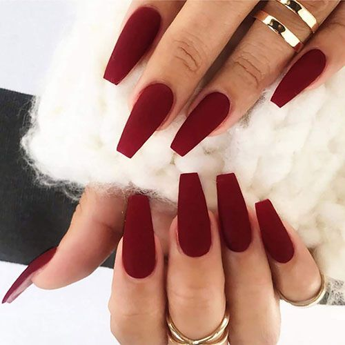 65 Best Coffin Nails Short Long Coffin Shaped Nail Designs For 2020 In 2020 Red Nails Coffin Shape Nails Short Coffin Nails
