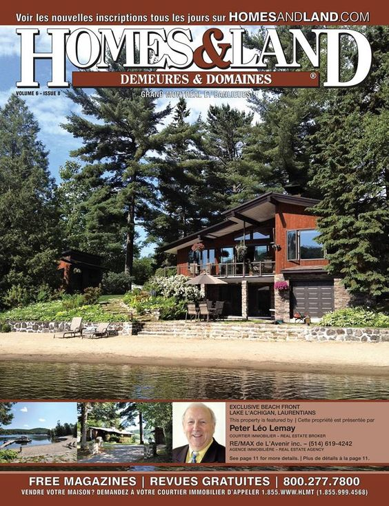 -- Volume 6 Issue 8 -- Homes&Land Demeures & Domaines by Peter Leo Lemay