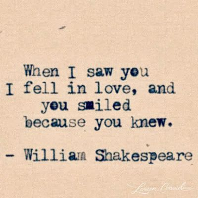 William Shakespeare Quotes on Love... This would be awesome to have as a tattoo... For me that is