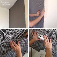 Jeito fácil e bem explicadinho de aplicar tecido na parede