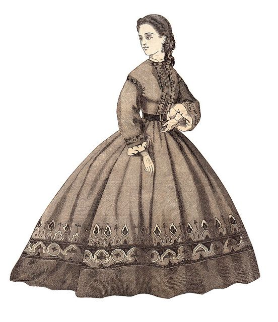 1867 Godey lady 3 - free to use by ms.bailey, via Flickr: