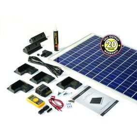 120W Solar Panel Motorhome Kit with Premium Roof Fixings | Maplin