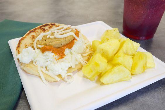 Smokehouse's Naaner: Naan, Scrambled Egg Whites, Roasted Tomato Couli, Fried Green Tomato and Mozzarella