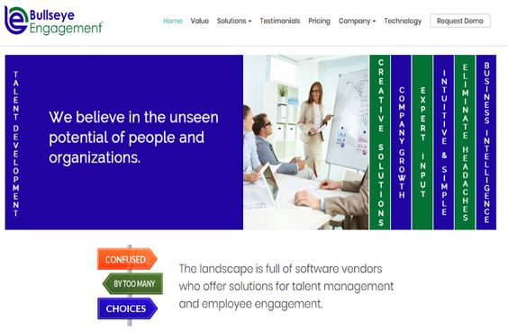 On October 25 Bullseye S Website Www Bepms Com Took On A New Look And Feel And The Content Was Updated To Talent Development Talent Management Kpi Dashboard
