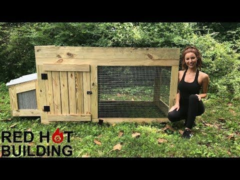 Chicken Coop Red Hot Building Youtube Building A Chicken Coop Backyard Chicken Coop