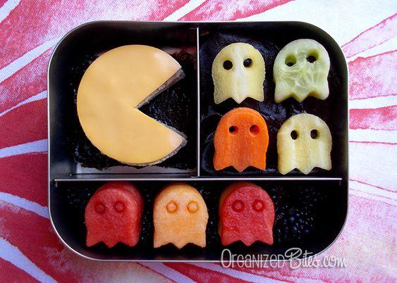 Pacman bento box by Organized Bites