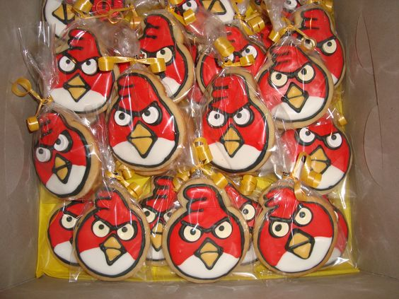 Angry Birds Sugar Cookies individually wrapped!