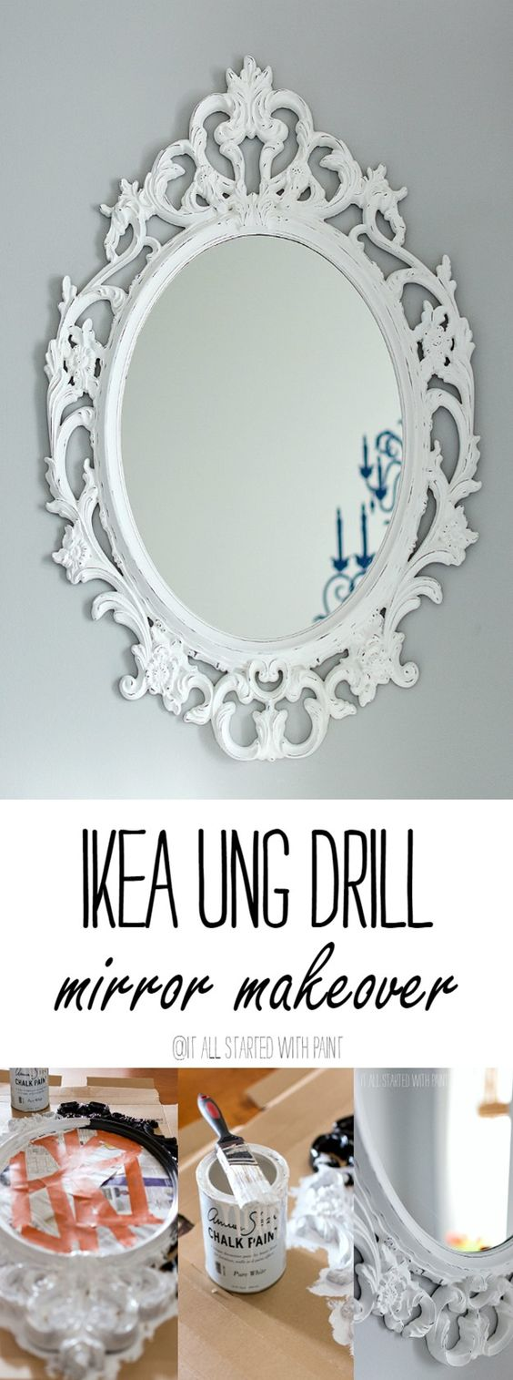 Ikea mirror girls mirror and gold for Ung drill mirror