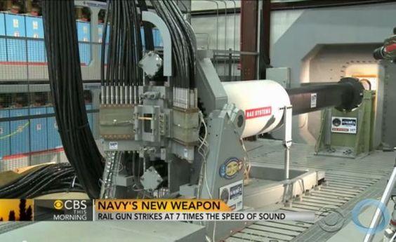 Disso Voce Sabia?: Rail Gun - US Navy anuncia nova arma 7 vezes mais rápida do que a velocidade do som