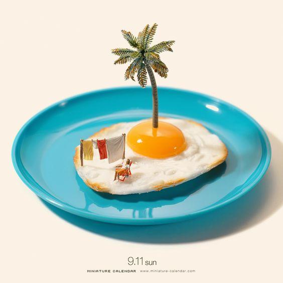 Sunday sunny side up ^^ Miniature calendar by 田中 達也 TATSUYA TANAKA