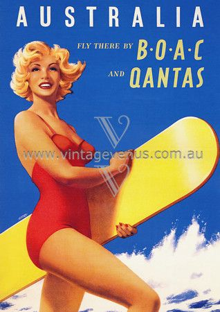 Vintage Australia poster  This would look fab in the BBQ area if it was tin.