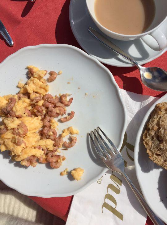 Breakfast at Lund in Hörnum.