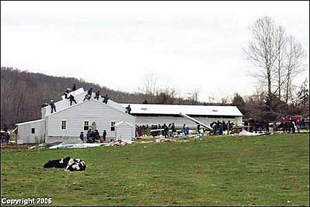 amish neighbors rebuilding house