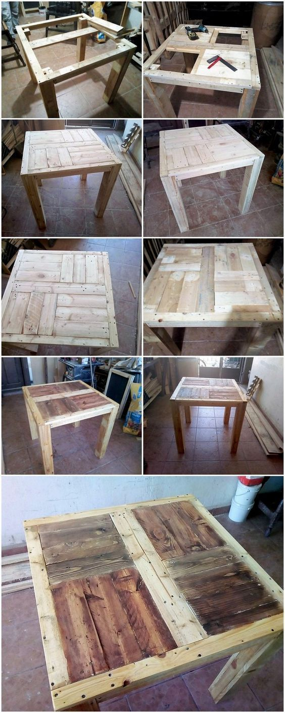Diy Recycled Pallet Table Step By Step Plan Pallet Table