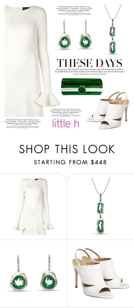 """""""These days by Little h Jewelry"""" by littlehjewelry ❤ liked on Polyvore featuring David Koma and Isabel Englebert"""