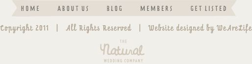 f you've found yourself on The Natural Wedding Company website you are probably in search of a wedding that is full of handmade details, eco-friendly elements, vintage touches or reflects the seasons, that's what we're all about – we're here to help you plan a wedding using the best quality suppliers who have the environment at their heart, and one that reflects who you are as a couple without spending a fortune.