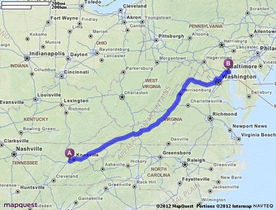 Driving Directions from 9721 Sherrill Blvd, Knoxville, Tennessee 37932 to 5625 Odonnell St, Baltimore, Maryland 21224   MapQuest