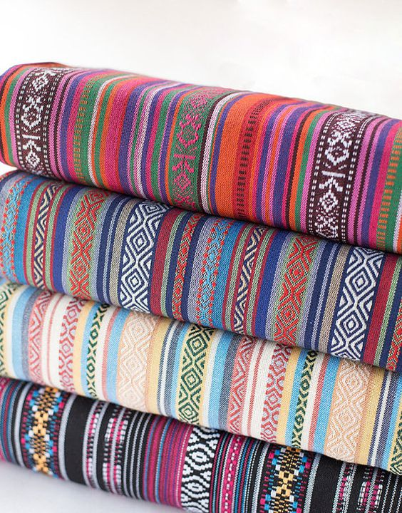 colorful stripy fabric boho bohemian fabric upholstery fabric home decor fabric curtain sofa table cloth