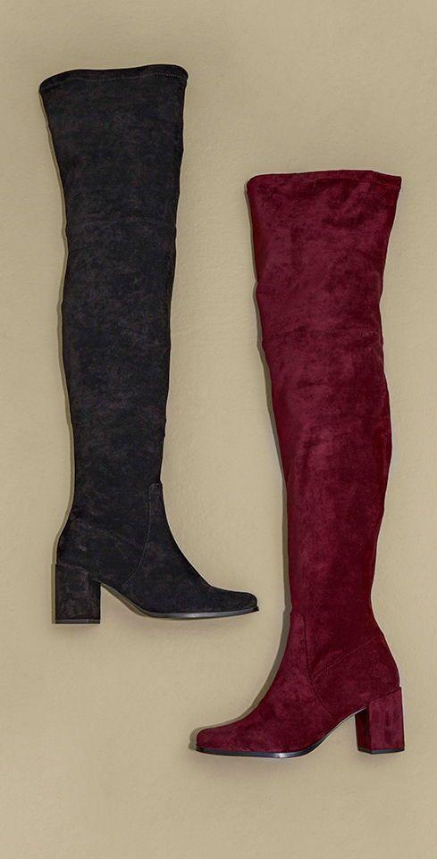 Long Tall Sally Cordelia Over The Knee Sock Boot Over The Knee Sock Boots Boots Over The Knee Socks