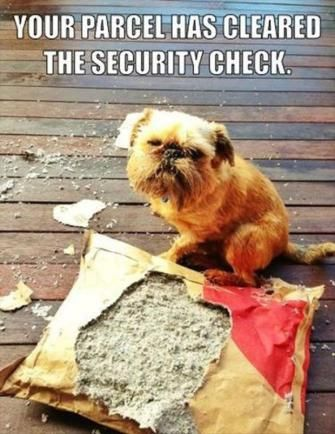 Your parcel have cleared the security check