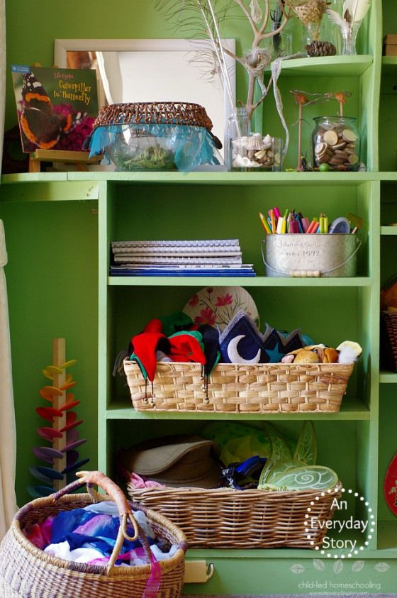 Inside a child-led homeschool playroom | An Everyday Story