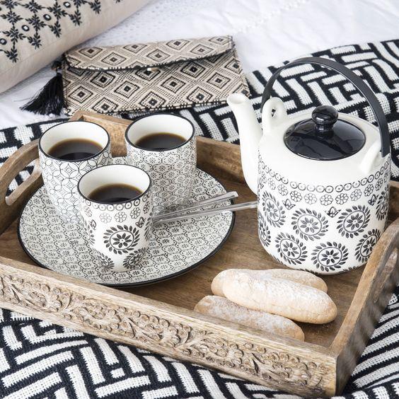 th i re en fa ence noire blanche 1 l chiang mai maisons du monde d co pinterest chiang mai. Black Bedroom Furniture Sets. Home Design Ideas