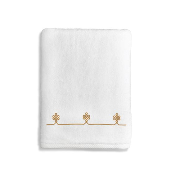 Authentic Hotel and Spa Soft Twist Bath Towel with Filigree Design