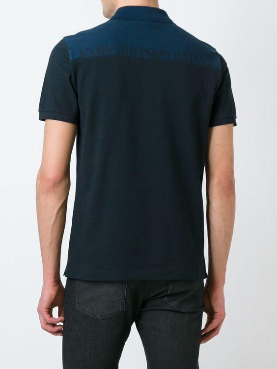 Emporio Armani Camisa polo manga curta