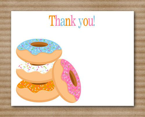 Doughnut Thank You Cards / Donut Party / by PaperHouseDesigns, $5.00