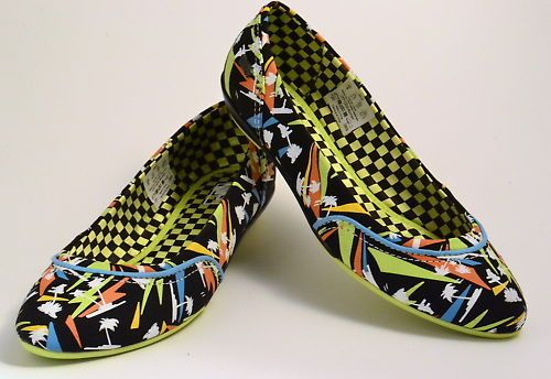 VANS LESLEY PALM BLACK/MULTI W Schuhe,Ballerina