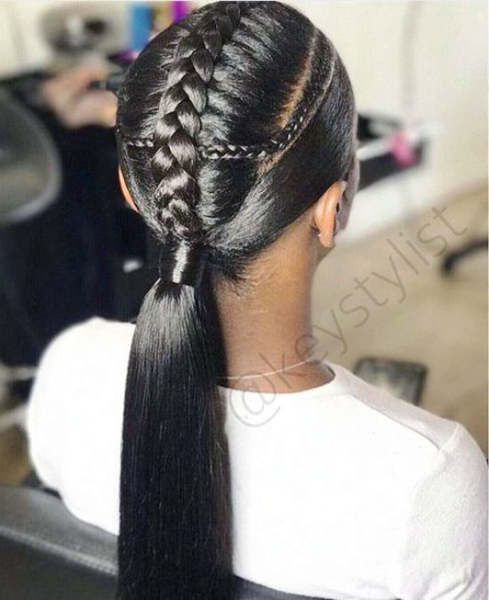 39 Crazy Braided Ponytail Hairstyles In 2020 Black Ponytail Hairstyles Braided Ponytail Hairstyles Ponytail Styles