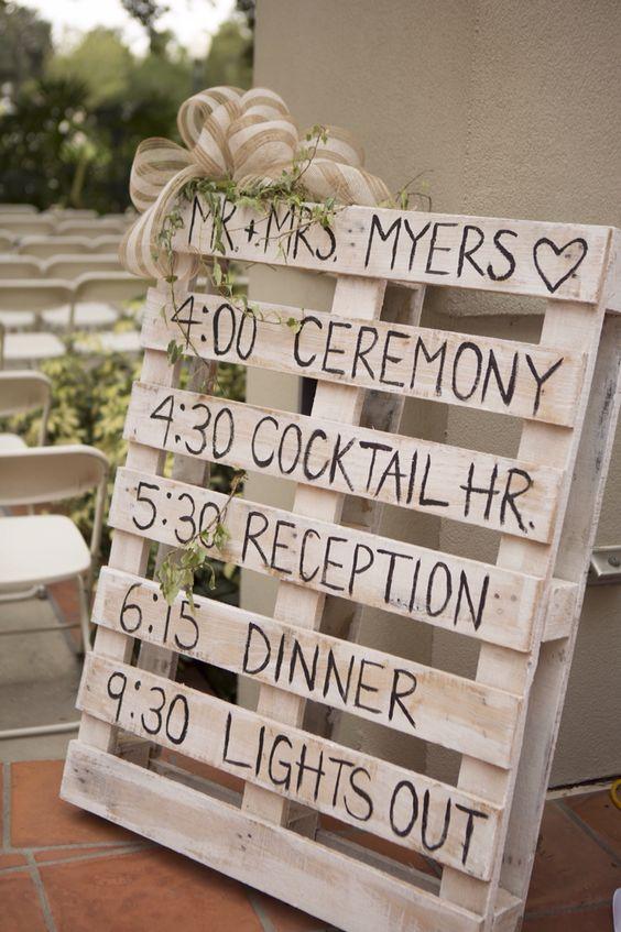 Wedding Photography Programs: DIY Pallet Wedding Program. Wedding Photography By Sara