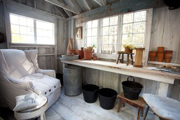 eclectic garage and shed by Tess Fine