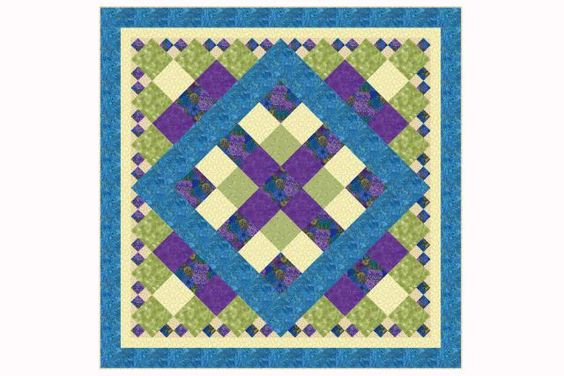 Free Bed Quilt Patterns For Beginners : X s and O s Baby Quilt Pattern with Easy Sashing Quilt, King and Minis