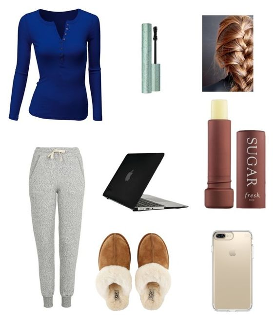 """""""Snow days!"""" by sarapotter98 ❤ liked on Polyvore featuring Doublju, Topshop, Too Faced Cosmetics, Fresh, UGG, Speck, Winter, outfit, ootd and polyvorefashion"""
