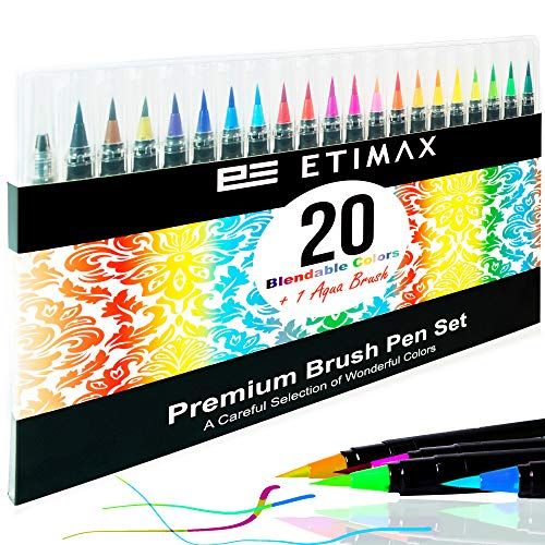 Etimax Watercolor Markers Water Color Pen Brush Set For