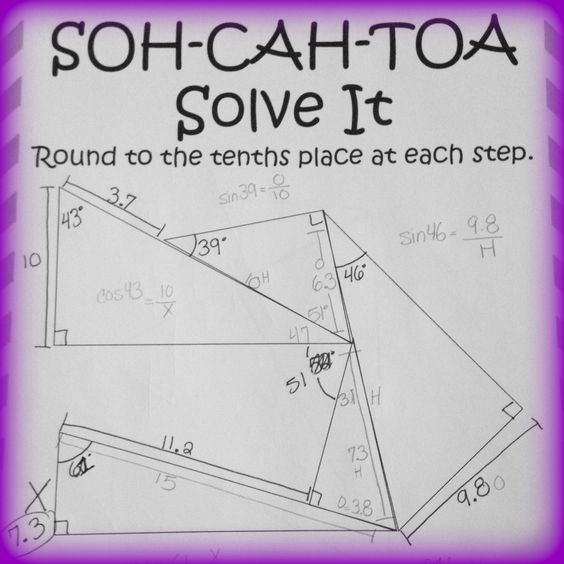 Worksheets Sine Cosine And Tangent Practice Worksheet Answers geometry puzzles and trigonometry on pinterest soh cah toa solve it 3 sine cosine tangent puzzles