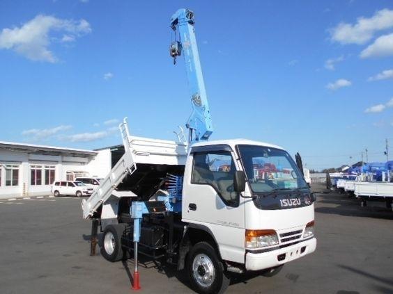 1997 Isuzu Elf Dump With Crane 4wd Kc Nks71gdr Used Trucks For Sale Truck Cranes Trucks