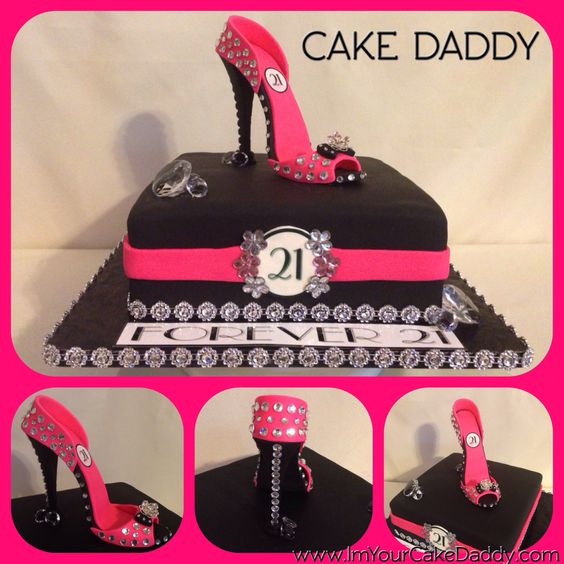 Forever 21 Blinged Out Birthday Cake With Stiletto Shoe