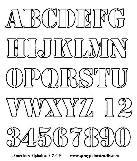 Alphabet Letters To Cut Out | Alphabet Stencil - Free Upper Case ...