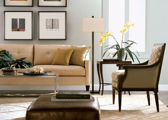 Beach Chic Living Room | Ethan Allen monterey love seat