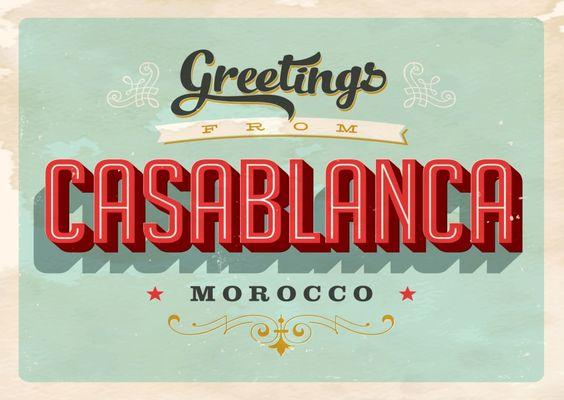 Casablanca - Vintage Style | Urlaubsgrüße | Echte Postkarten online versenden…