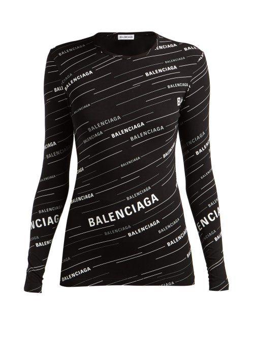 Balenciaga Diagonal Logo-print Stretch