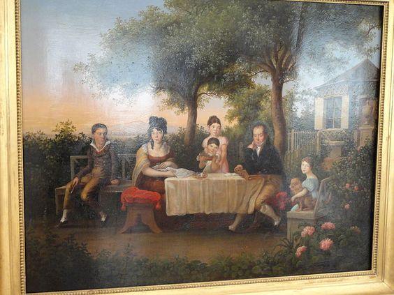 Familie im Garten, Wendelin Moosbrugger, Zeppelin Museum Friedrichshafen