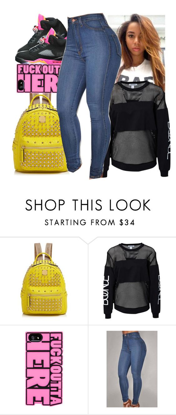 """""""My Stepkids To Cuute"""" by prettygurl21 ❤ liked on Polyvore featuring Retrò, MCM and Estradeur"""