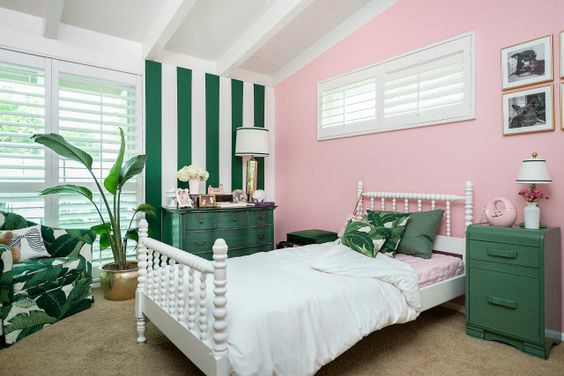 Pink and Green Big Girl Room by @The Guncles - inspired by the Beverly Hills Hotel